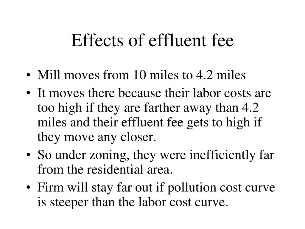 Effects of effluent fee
