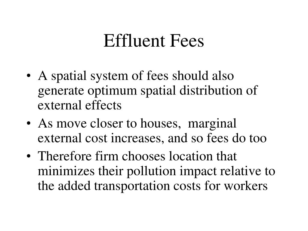 Effluent Fees