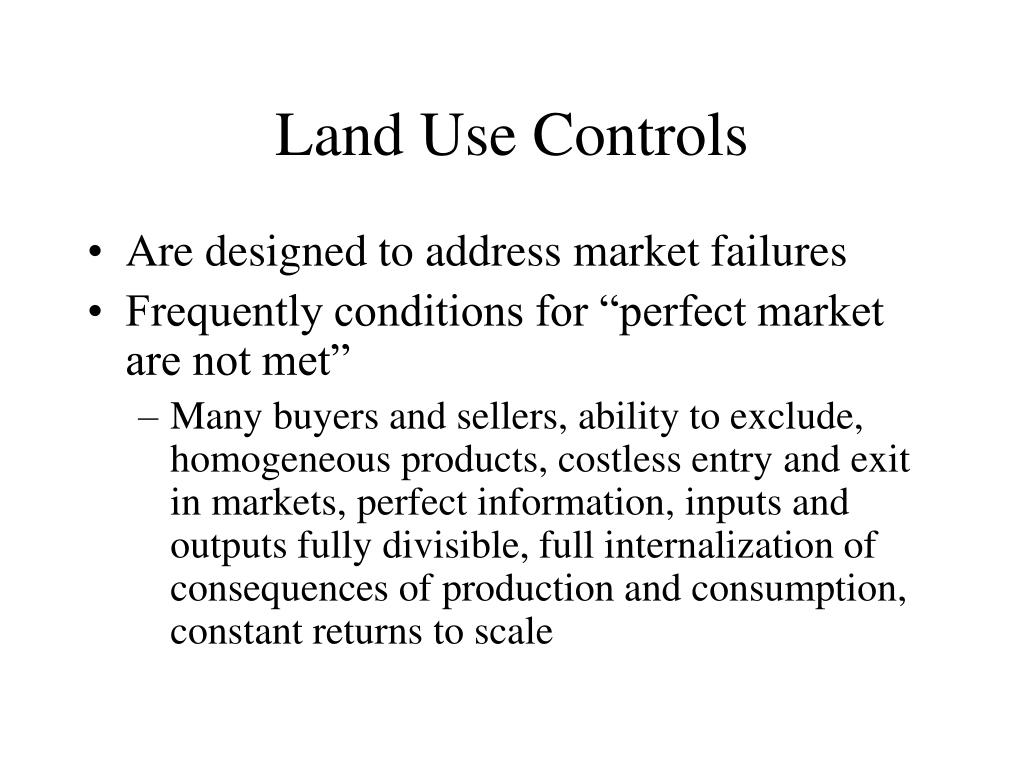 Land Use Controls