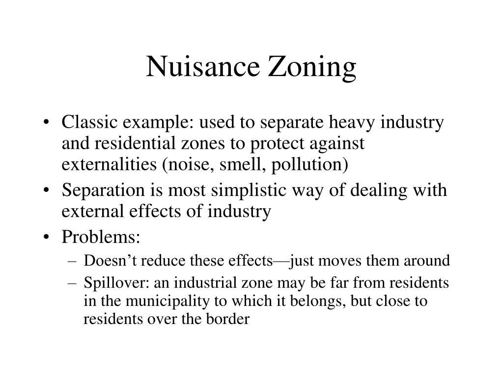 Nuisance Zoning