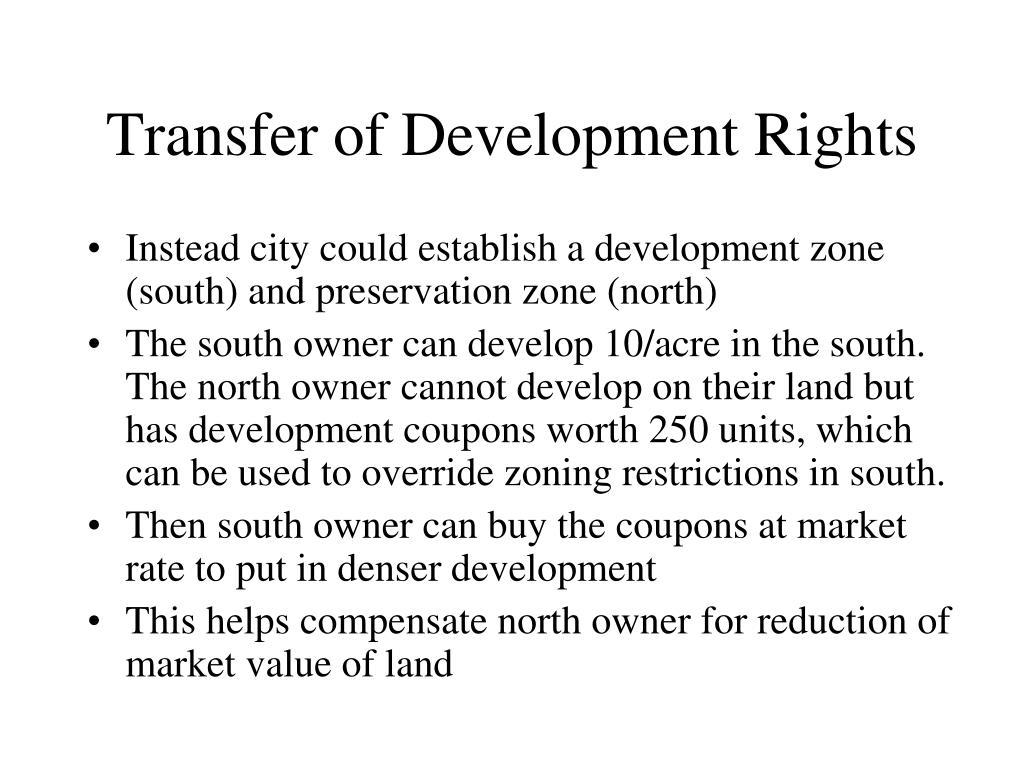 Transfer of Development Rights