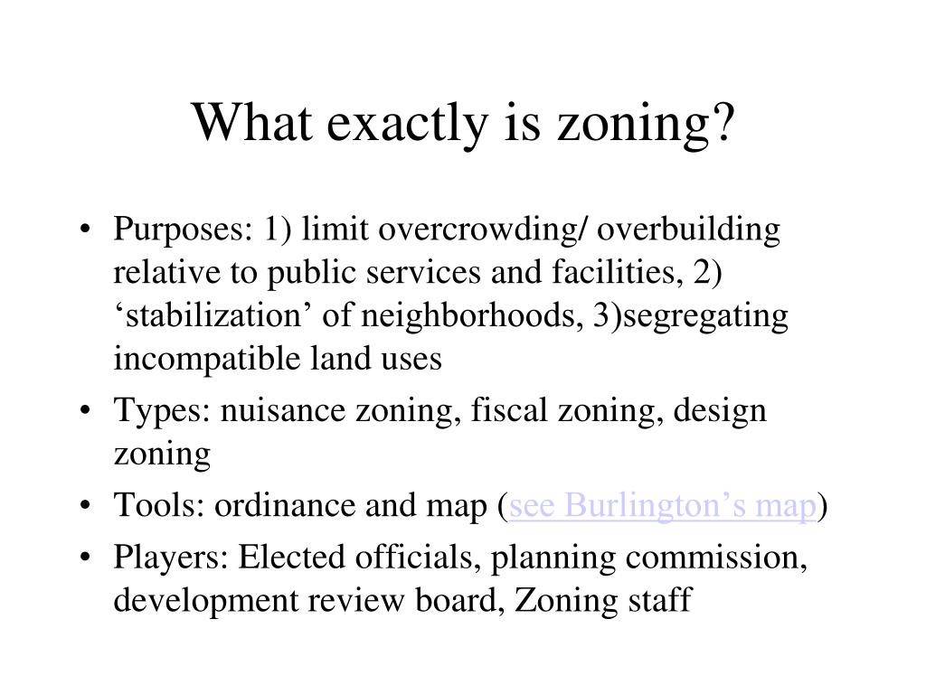 What exactly is zoning?