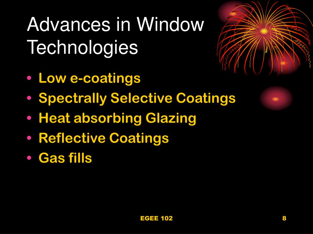 Advances in Window Technologies