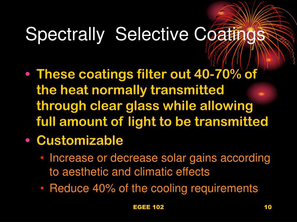 Spectrally  Selective Coatings