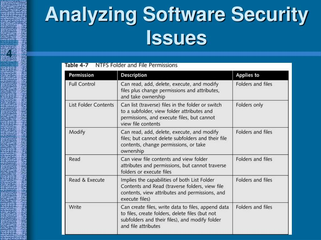 Analyzing Software Security Issues