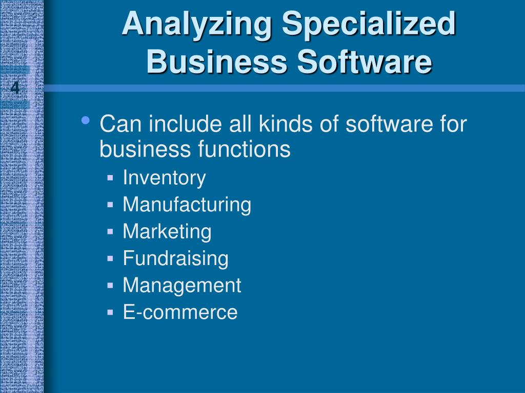 Analyzing Specialized Business Software