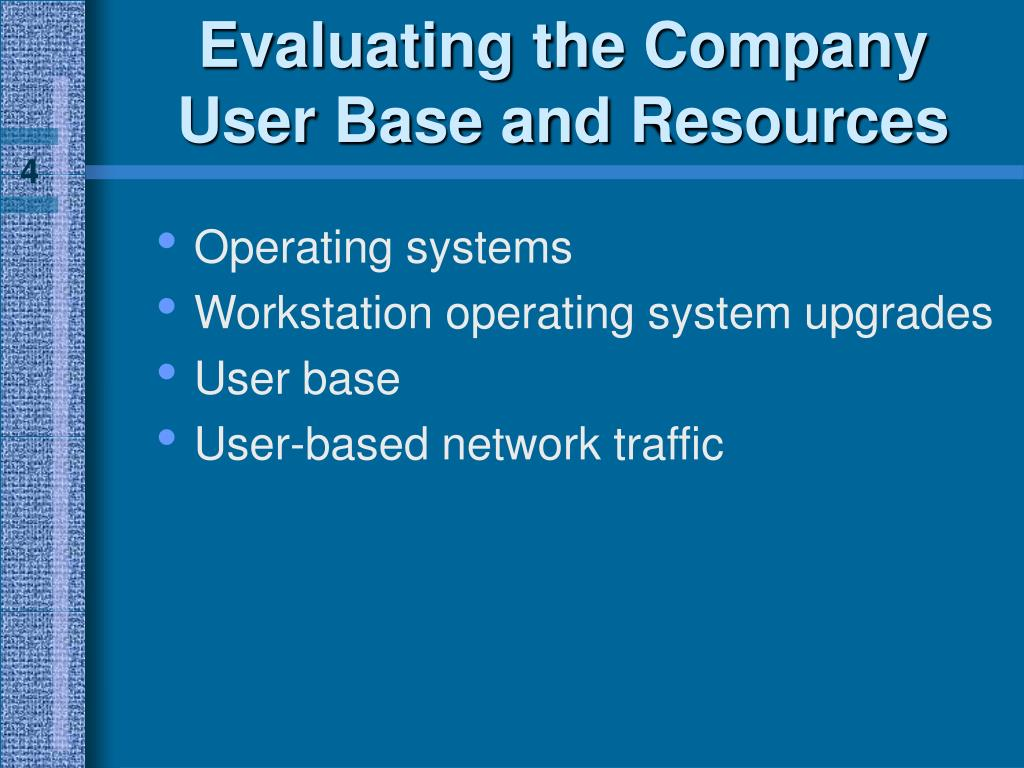Evaluating the Company User Base and Resources