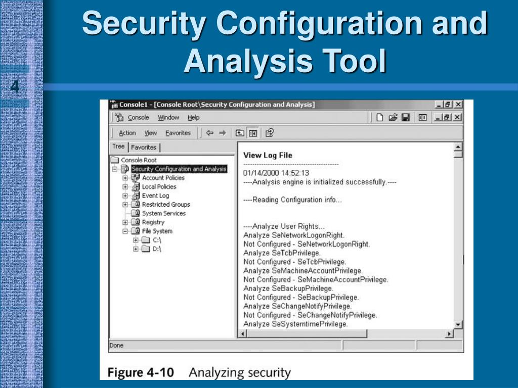 Security Configuration and Analysis Tool