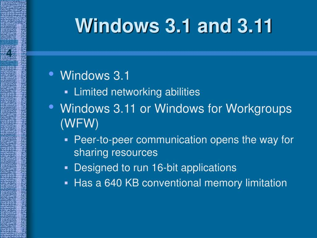 Windows 3.1 and 3.11