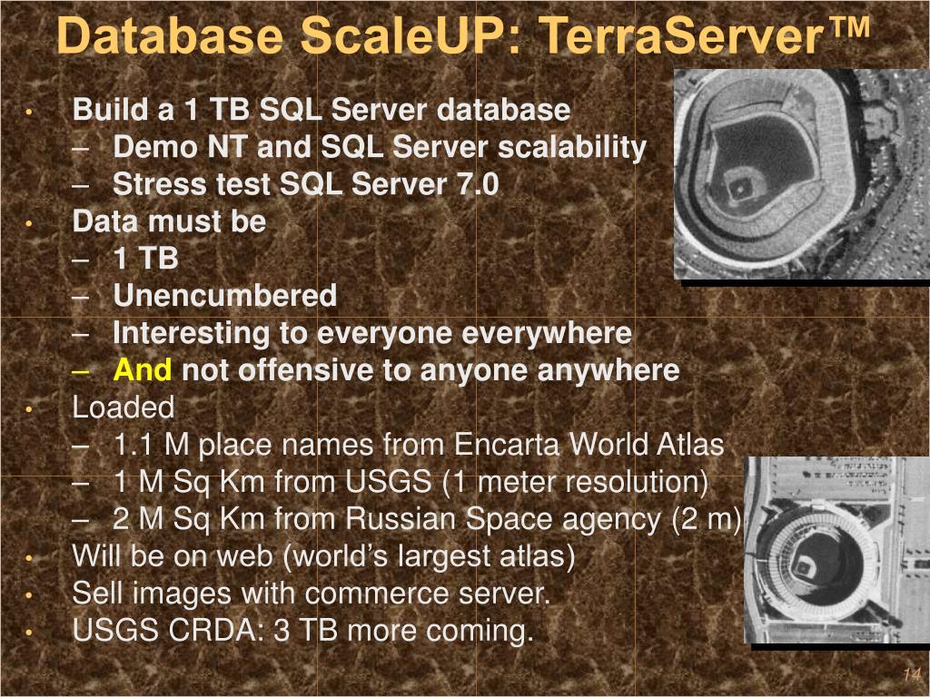 Database ScaleUP: TerraServer™
