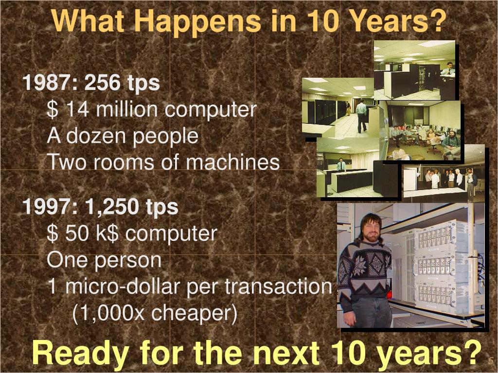 What Happens in 10 Years?
