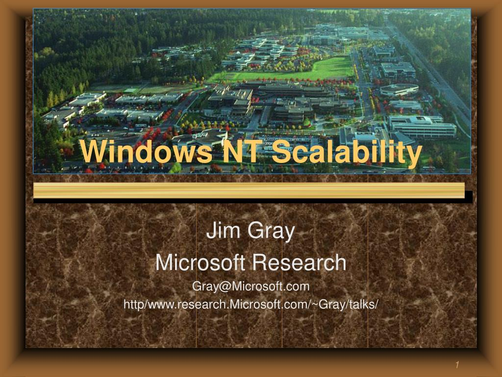 Windows NT Scalability