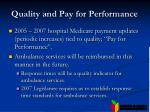 quality and pay for performance