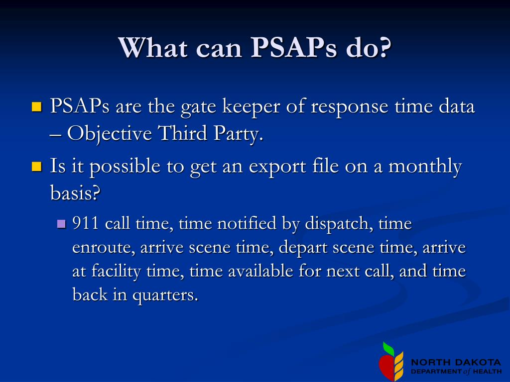 What can PSAPs do?