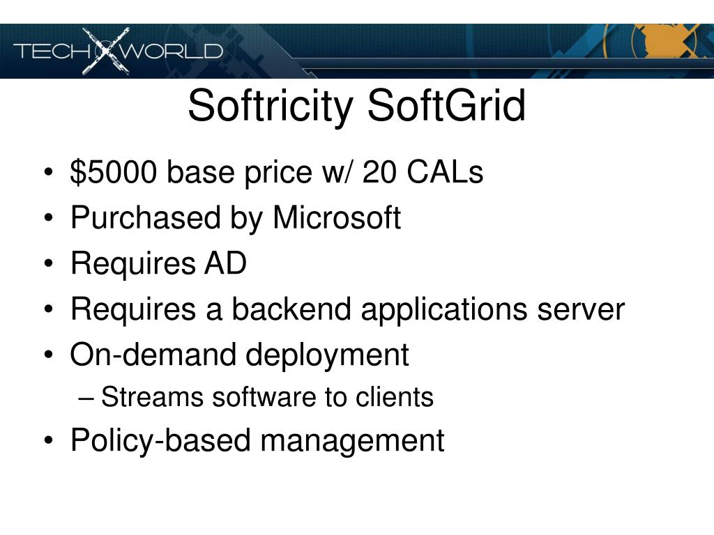 Softricity SoftGrid