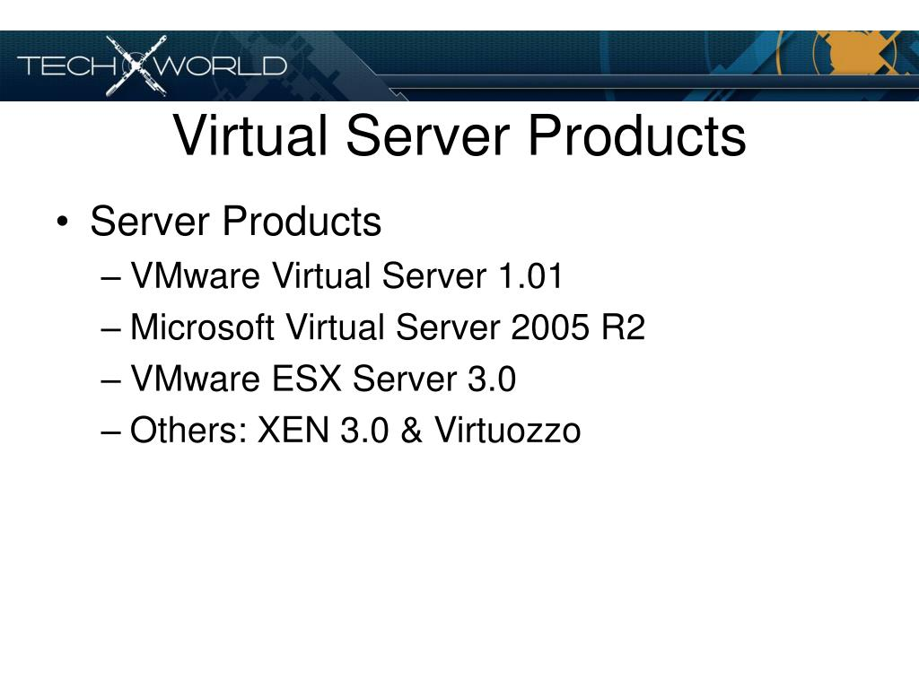 Virtual Server Products