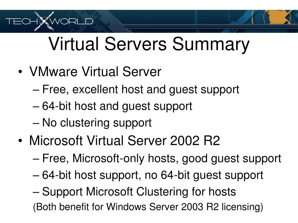 Virtual Servers Summary