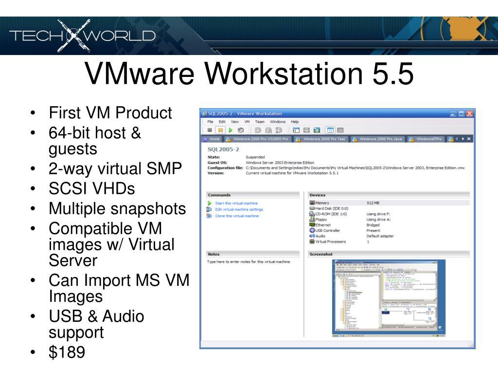 VMware Workstation 5.5