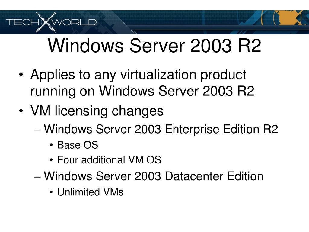 Windows Server 2003 R2