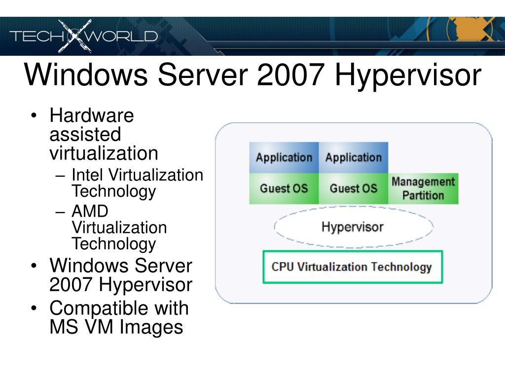 Windows Server 2007 Hypervisor