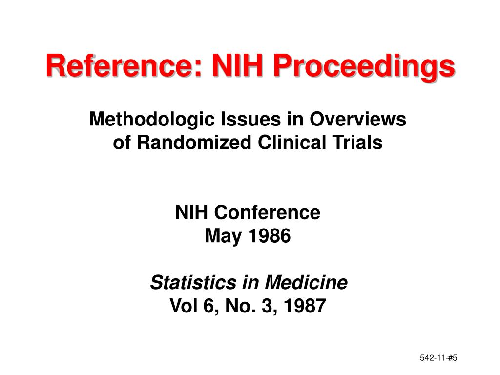Reference: NIH Proceedings