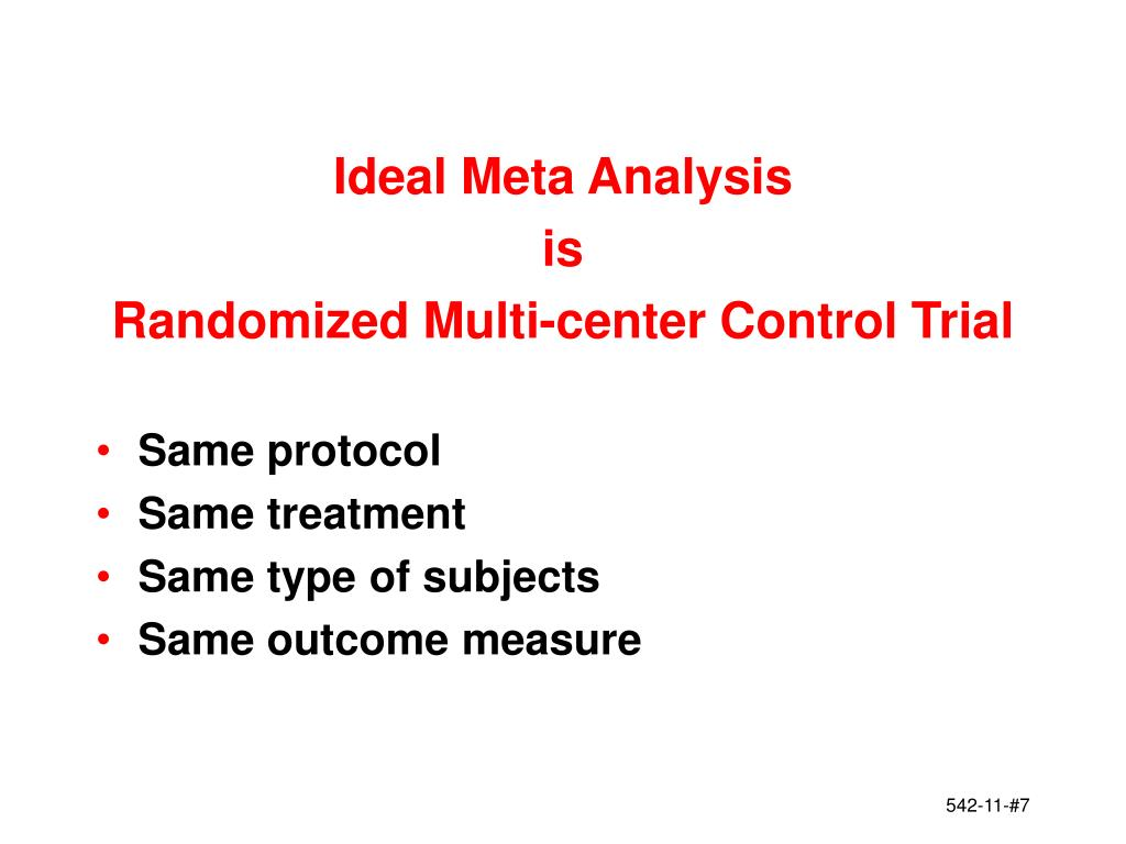 Ideal Meta Analysis