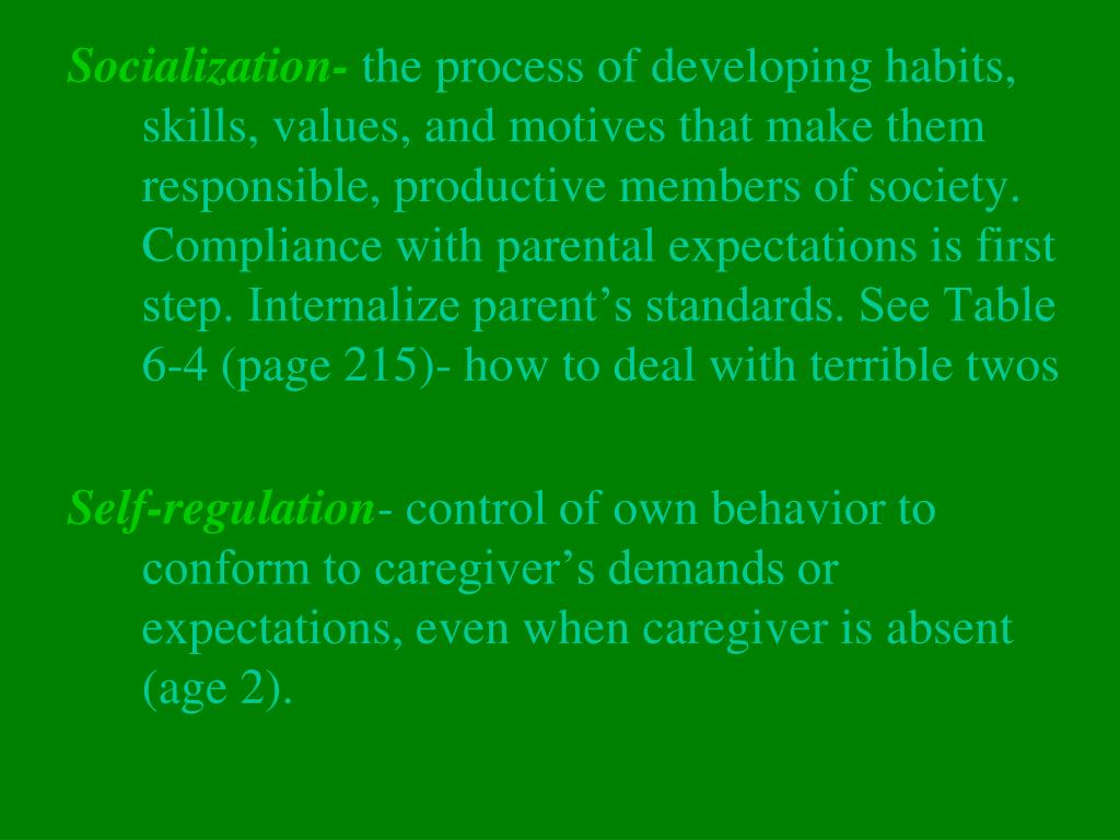 Socialization-