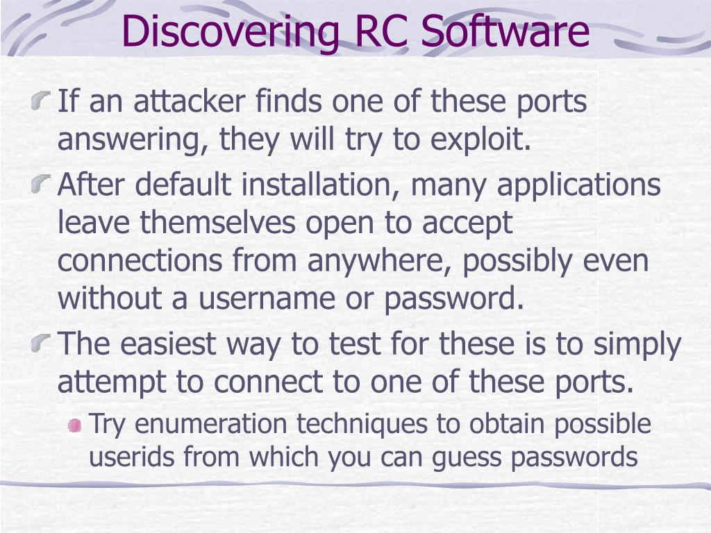 Discovering RC Software