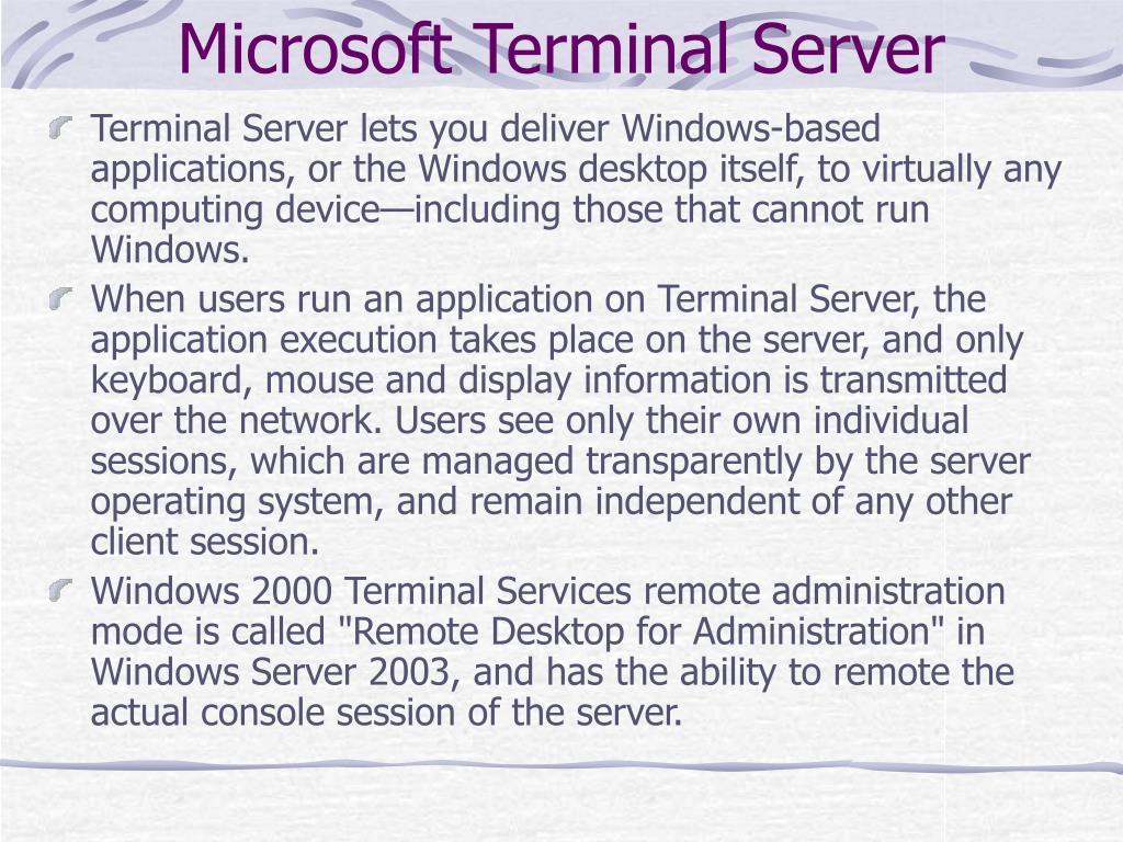 Microsoft Terminal Server