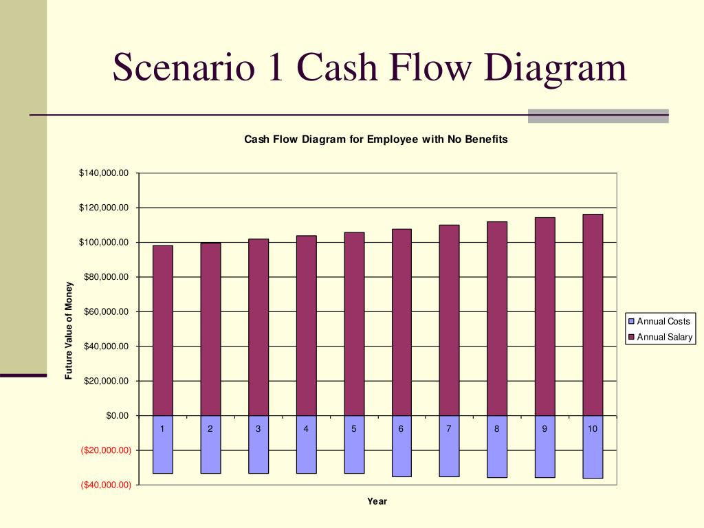 Scenario 1 Cash Flow Diagram