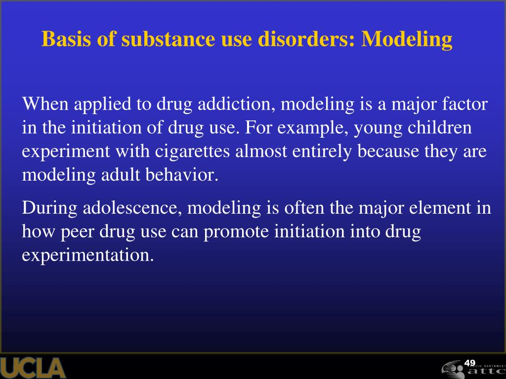 Basis of substance use disorders: Modeling