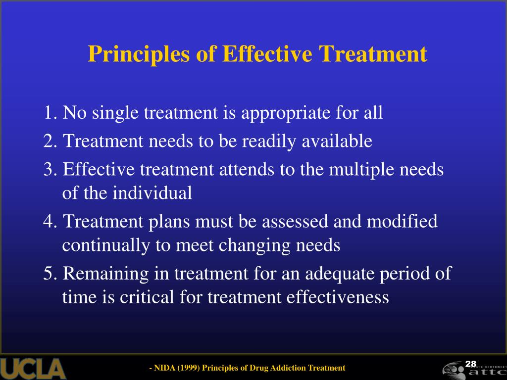 Principles of Effective Treatment