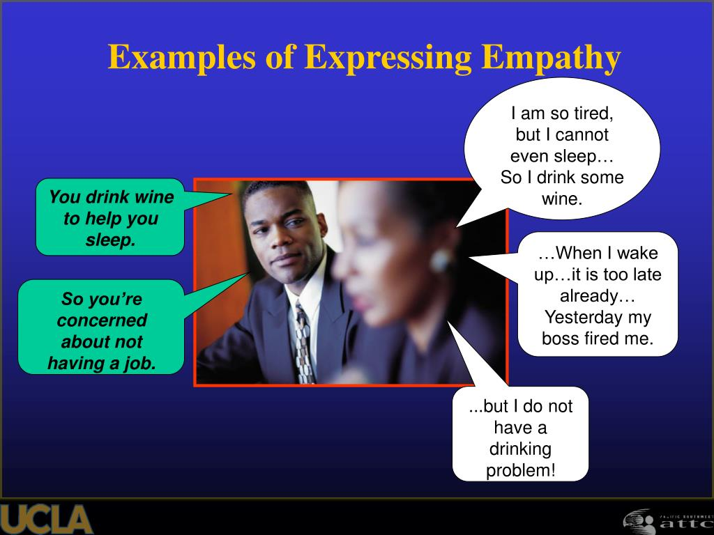 Examples of Expressing Empathy