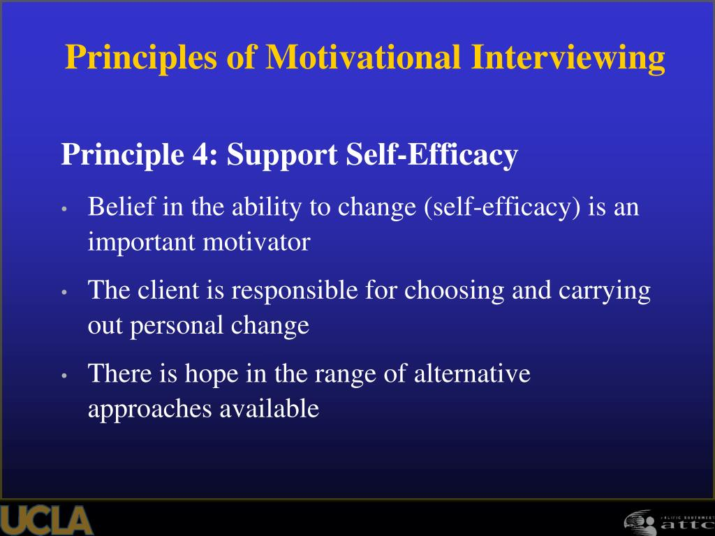 Principle 4: Support Self-Efficacy
