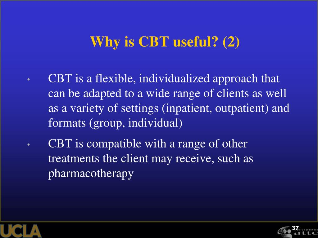 Why is CBT useful? (2)