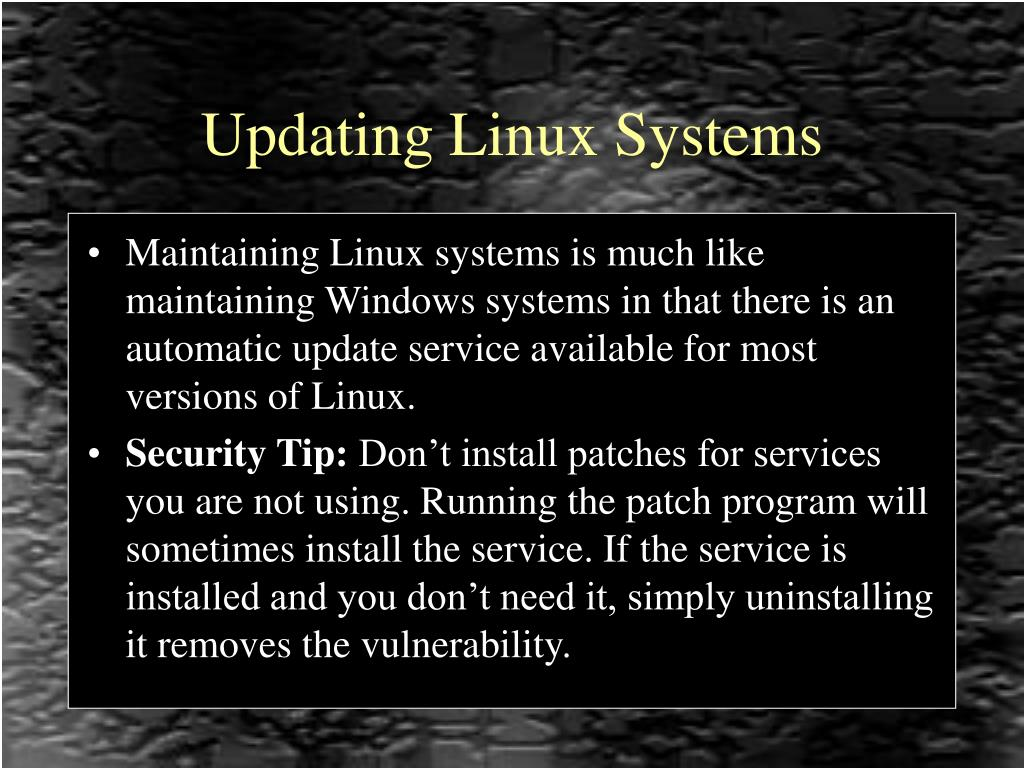 Updating Linux Systems