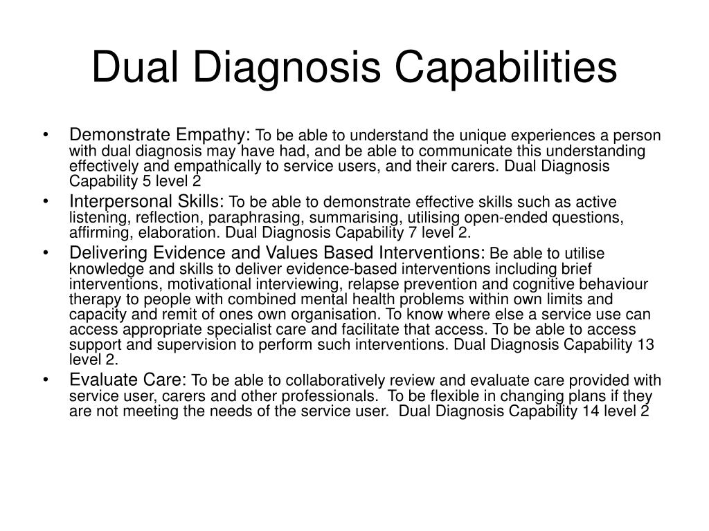 dual diagnosis essays Resource dual diagnosis treatment find important information that will help demystify dual diagnosis and make it easier for you to find proper treatment.