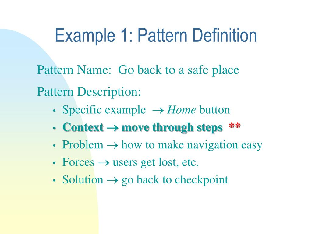 Example 1: Pattern Definition