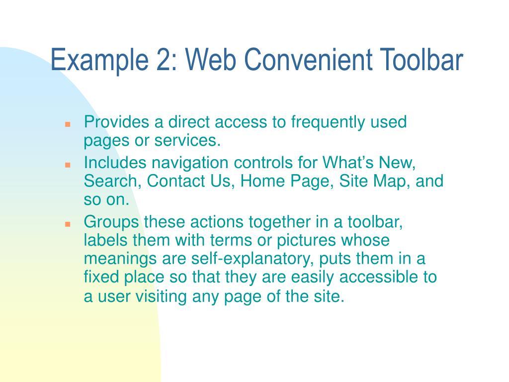 Example 2: Web Convenient Toolbar