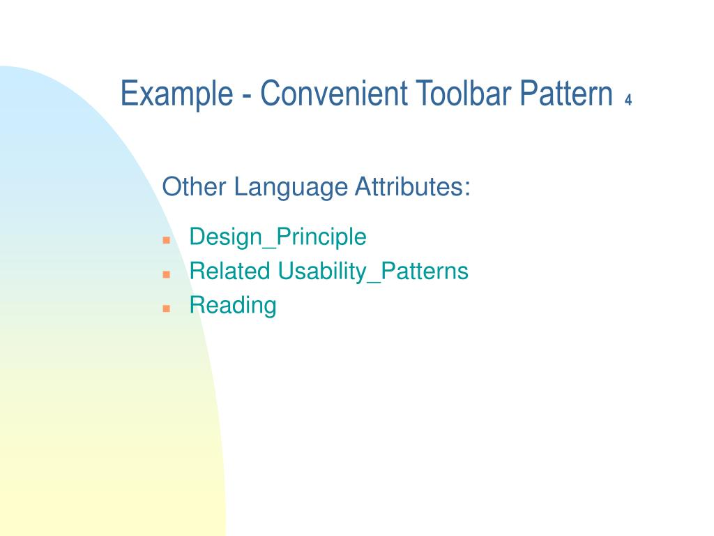 Example - Convenient Toolbar Pattern