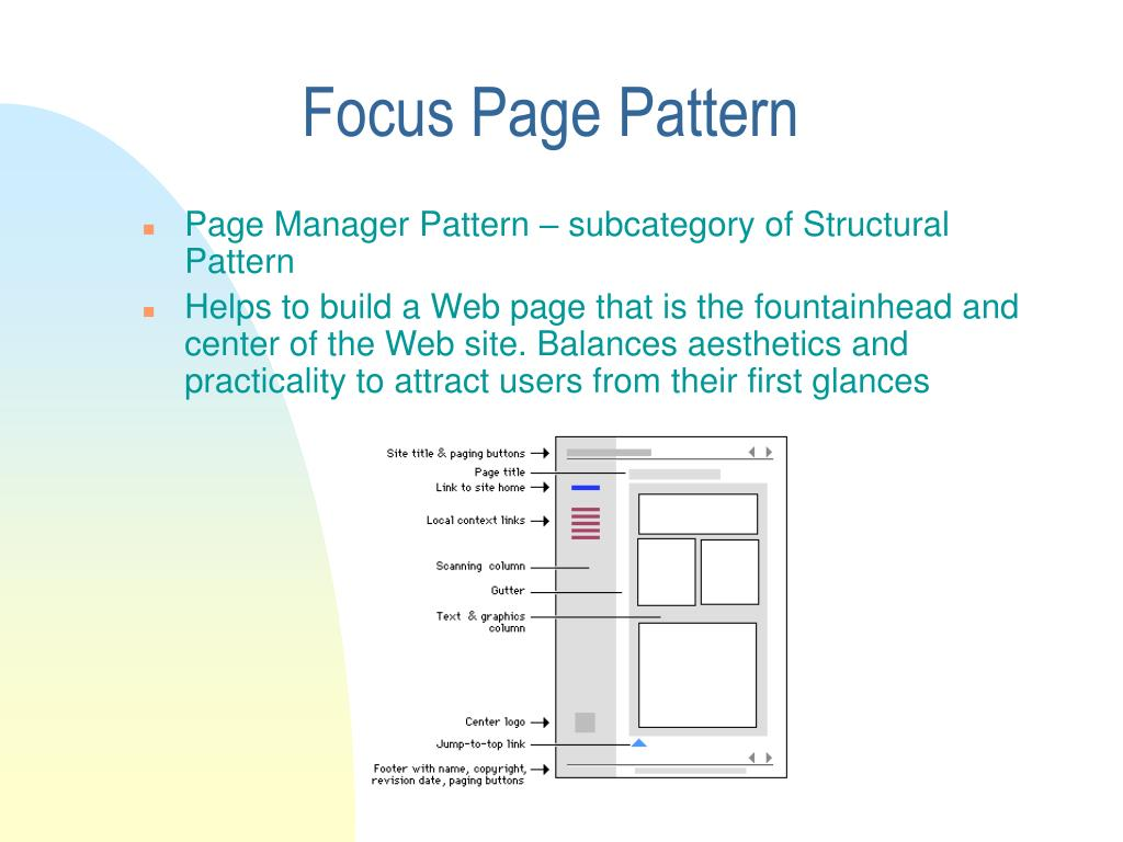 Focus Page Pattern
