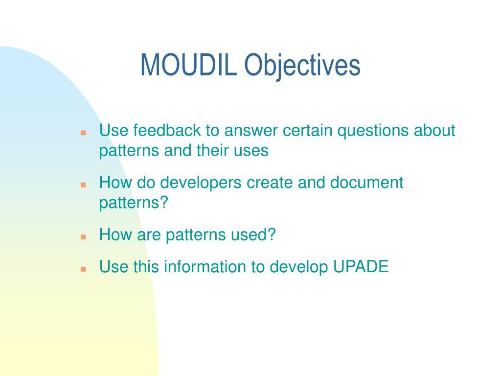 MOUDIL Objectives