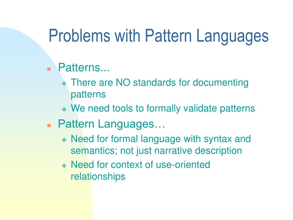 Problems with Pattern Languages
