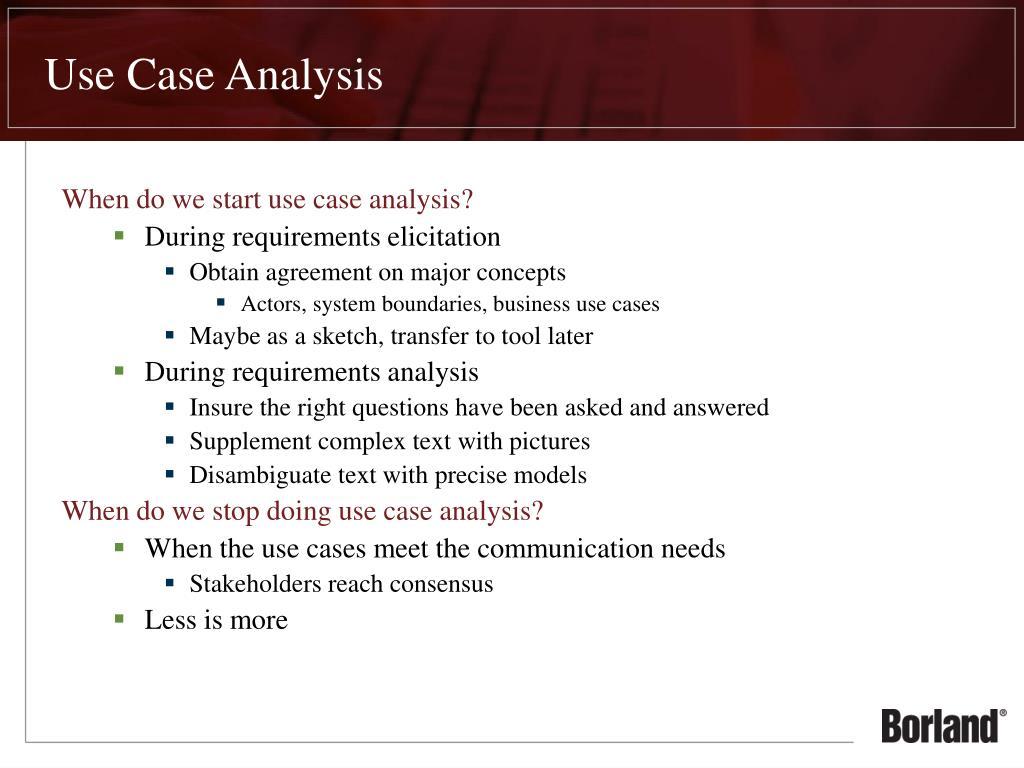 case analysiz
