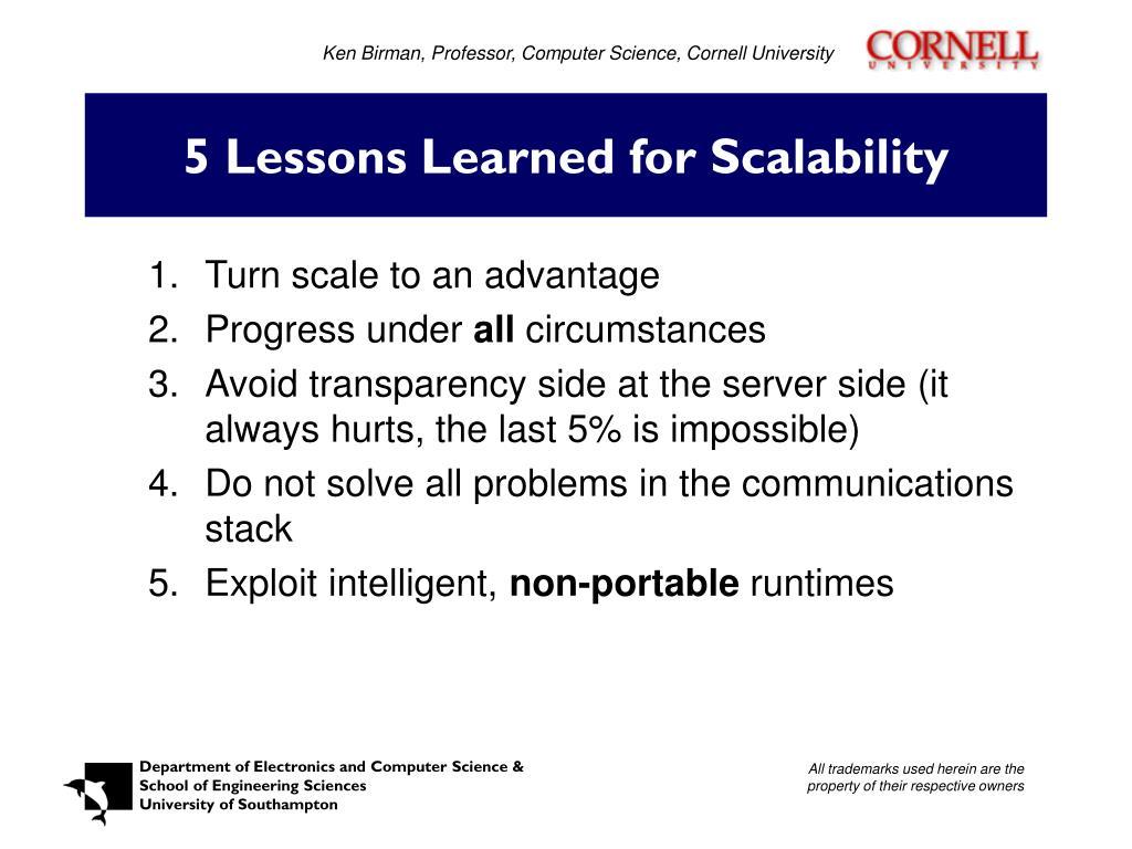 Ken Birman, Professor, Computer Science, Cornell University