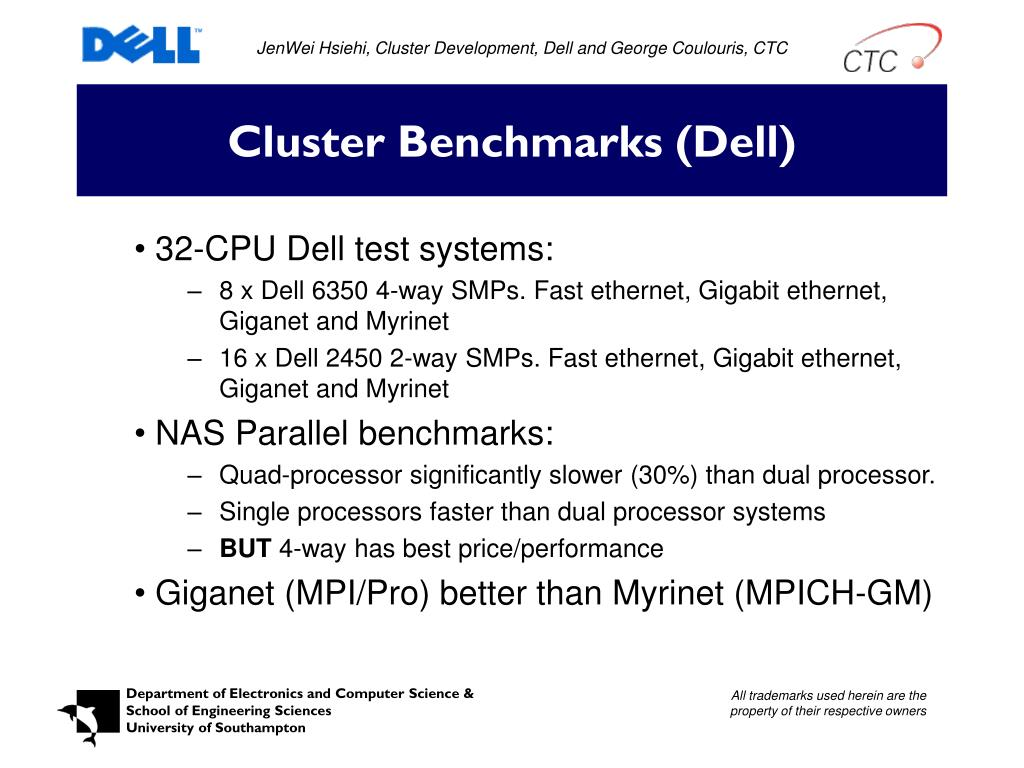 JenWei Hsiehi, Cluster Development, Dell and George Coulouris, CTC