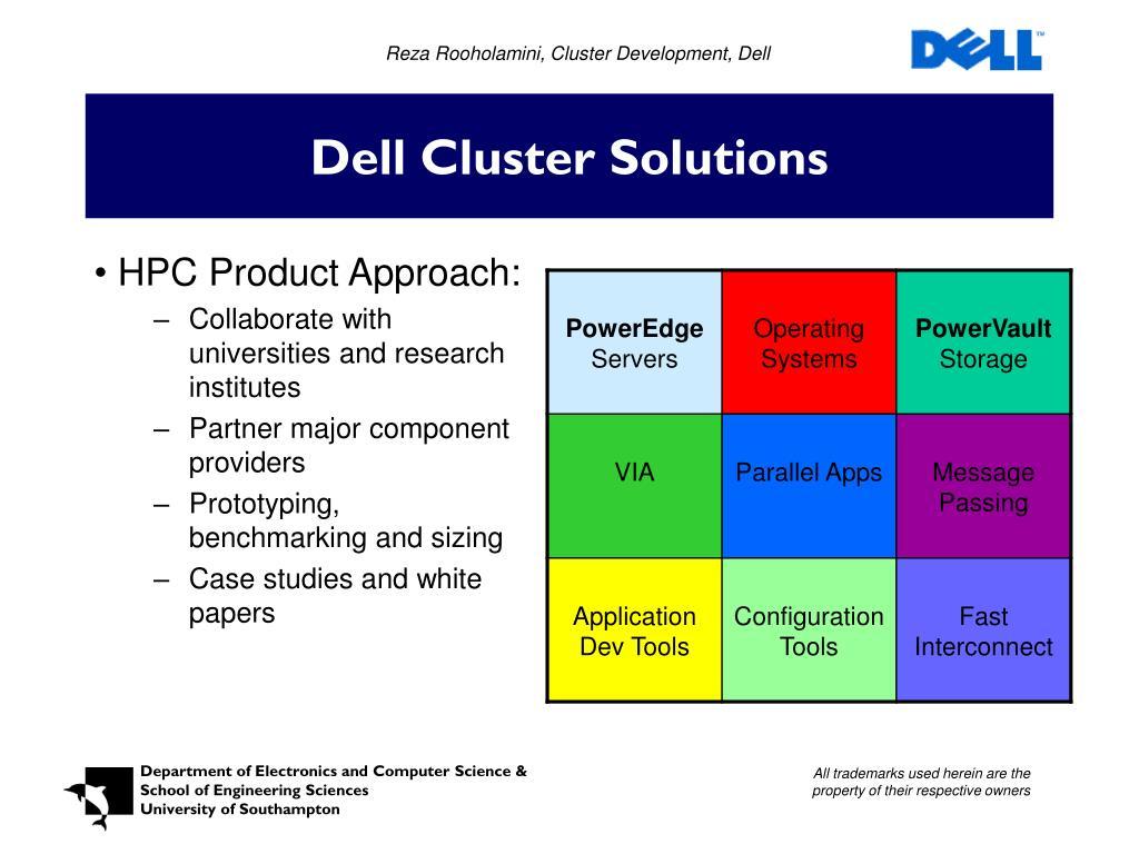 Reza Rooholamini, Cluster Development, Dell