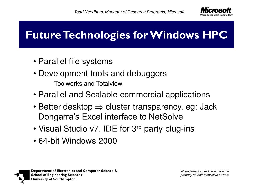 Todd Needham, Manager of Research Programs, Microsoft