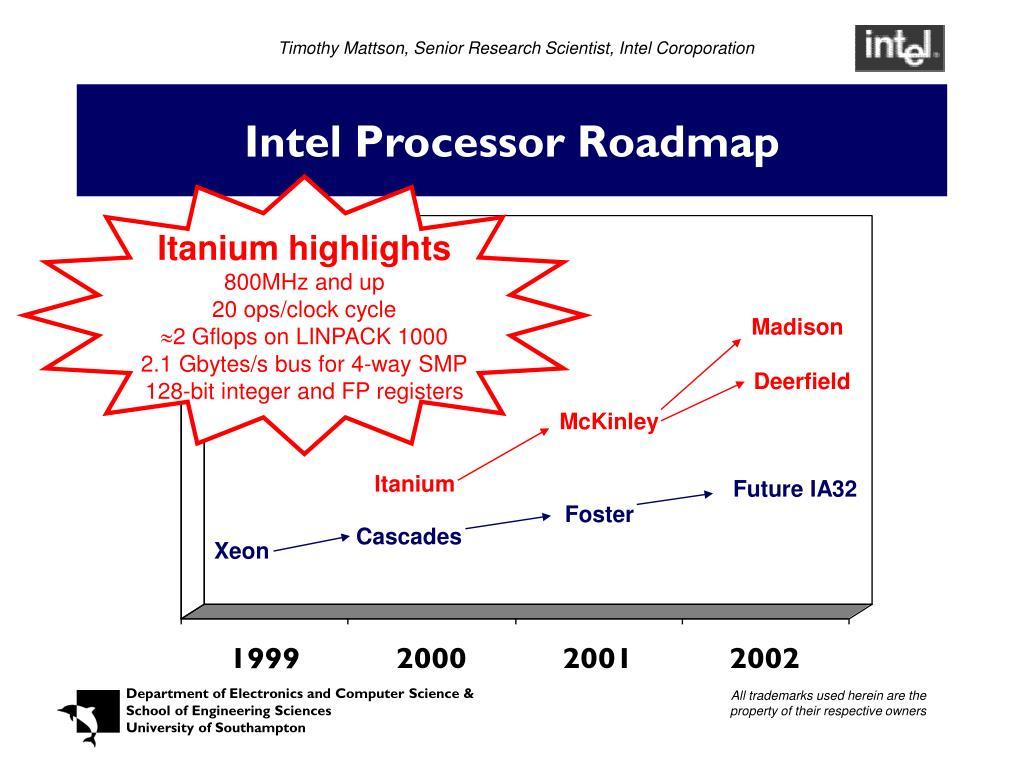 Timothy Mattson, Senior Research Scientist, Intel Coroporation