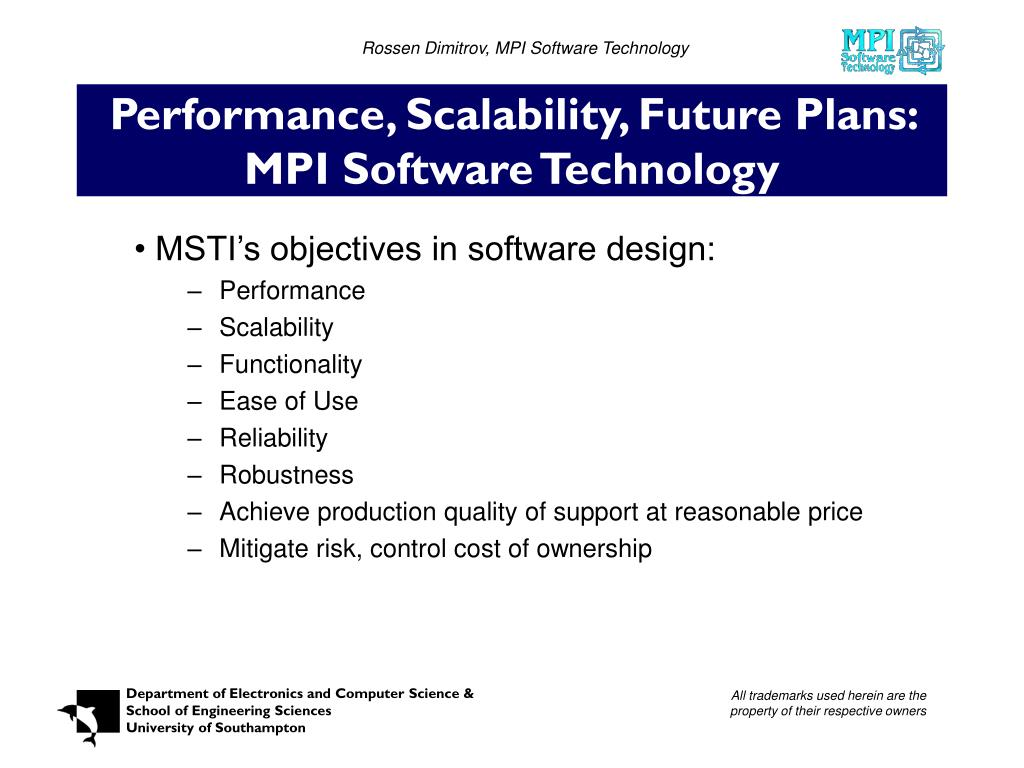 Rossen Dimitrov, MPI Software Technology